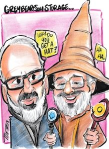 The GreyBeards in caricature